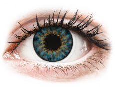 Blue contact lenses - natural effect - power - Air Optix (2 monthly coloured lenses)