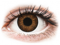 Brown contact lenses - natural effect - Air Optix (2 monthly coloured lenses)