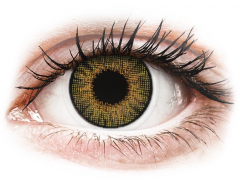 Brown Pure Hazel contact lenses - natural effect - Air Optix (2 monthly coloured lenses)