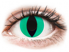 Green Anaconda Contact Lenses - ColourVue Crazy (2 coloured lenses)