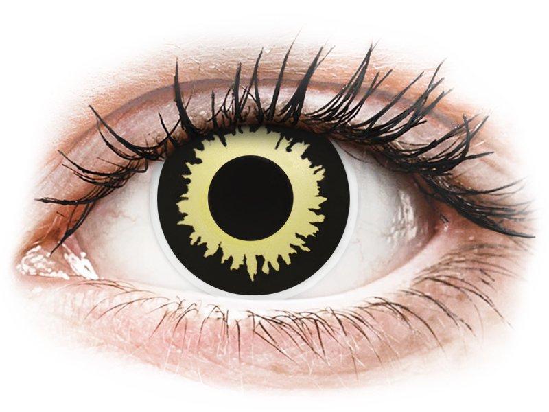 Yellow Eclipse Contact Lenses - ColourVue Crazy (2 coloured lenses)