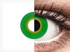 Green Hulk Green Contact Lenses - ColourVue Crazy (2 coloured lenses)