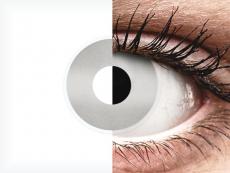 White Mirror Contact Lenses - ColourVue Crazy (2 coloured lenses)
