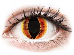 Red Saurons Eye Contact Lenses - ColourVue Crazy (2 coloured lenses)