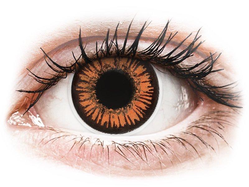 Orange Twilight Contact Lenses - ColourVue Crazy (2 coloured lenses)