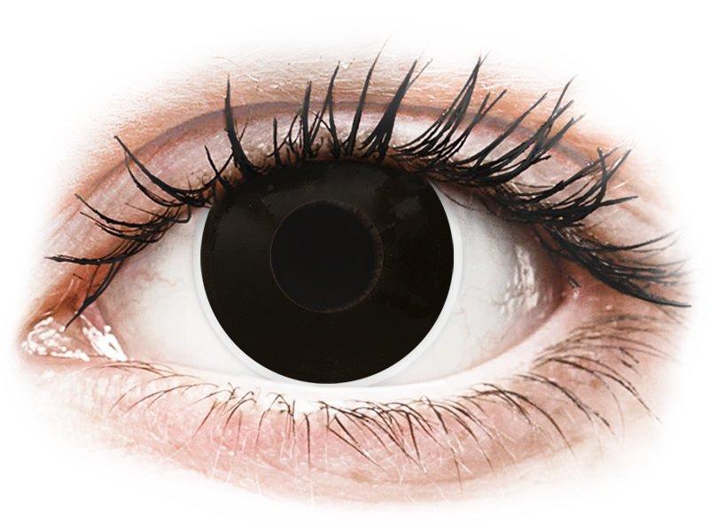 Black BlackOut Contact Lenses - Power - ColourVue Crazy (2 coloured lenses)