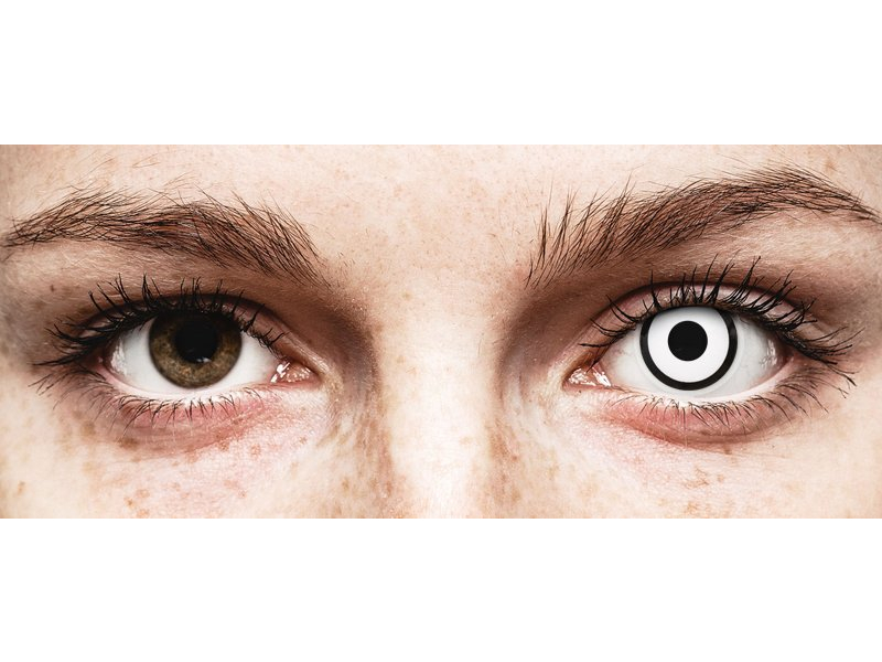 White Zombie Contact Lenses - Power - ColourVue Crazy (2 coloured lenses)