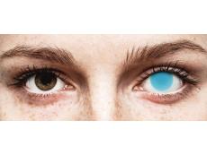 Electric Blue Glow Contact Lenses - ColourVue Crazy (2 coloured lenses)