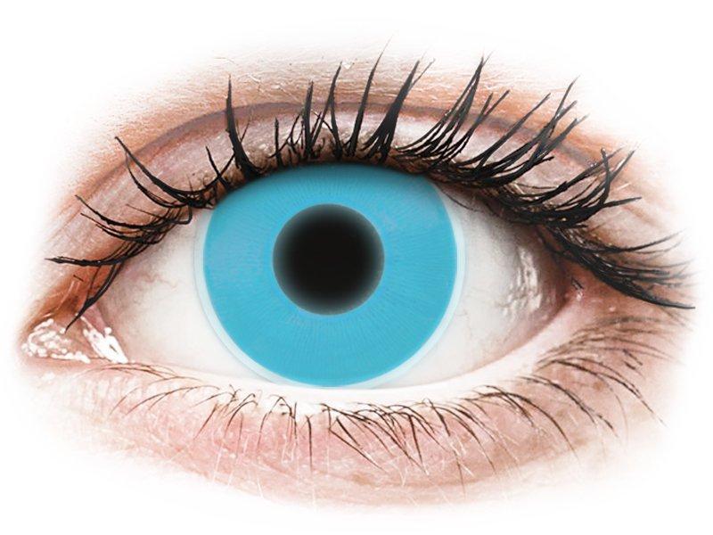Blue Glow Contact Lenses - ColourVue Crazy (2 coloured lenses)