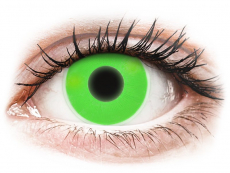 Green Glow Contact Lenses - ColourVue Crazy (2 coloured lenses)