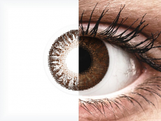 Brown contact lenses - Power - TopVue Color (2 monthly coloured lenses)