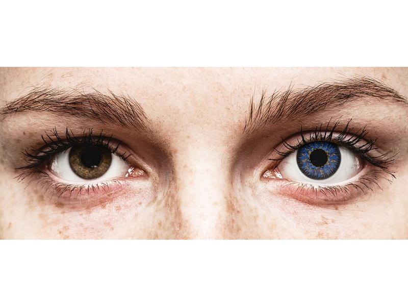 Blue Glamour Contact Lenses - Power - ColourVue (2 coloured lenses)