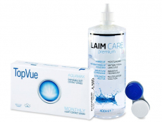 TopVue Monthly (6 lenses) + Laim Care Solution 400 ml