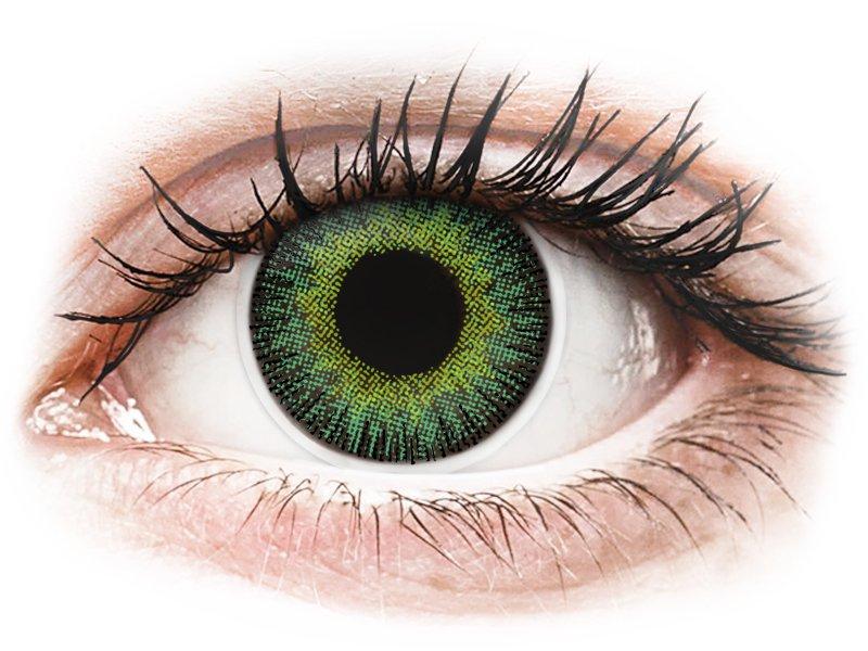 Green Yellow Fusion Contact Lenses - Power - ColourVue (2 coloured lenses)
