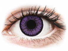 Purple Indigo contact lenses - SofLens Natural Colors - Power (2 monthly coloured lenses)