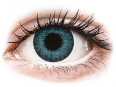 Brilliant Blue contact lenses - natural effect - power - Air Optix (2 monthly coloured lenses)