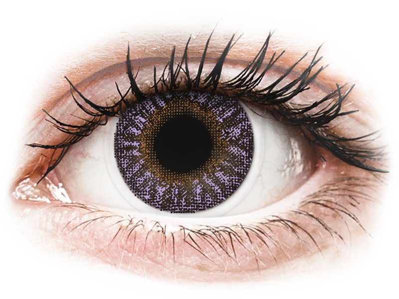 Violet contact lenses - Power - TopVue Color (2monthly coloured lenses)
