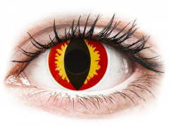 Red and Yellow Dragon Eyes contact lenses - ColourVue Crazy (2 daily coloured lenses)