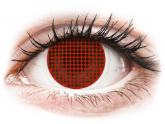 ColourVUE Crazy Lens - Red Screen - plano (2lenses)