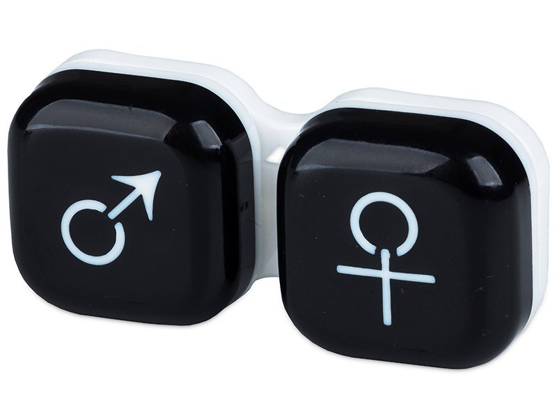 Lens Case man & woman - black