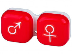 Lens Case man & woman - red