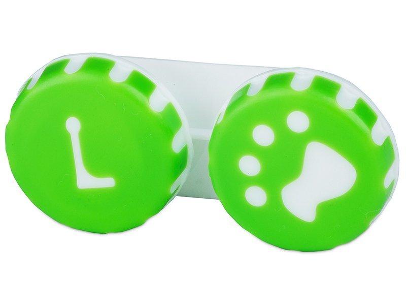 Lens Case Paw green