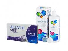 Acuvue Vita (6 lenses) + Gelone Solution 360 ml