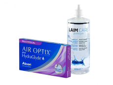 Air Optix plus HydraGlyde Multifocal (3 lenses) + Laim-Care Solution 400 ml