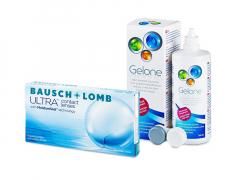 Bausch + Lomb ULTRA (6 lenses) + Gelone Solution 360 ml