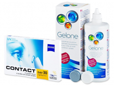Carl Zeiss Contact Day 30 Spheric (6 lenses) + Gelone solution 360 ml