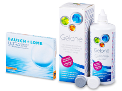 Bausch + Lomb ULTRA for Astigmatism(3 lenses) + Gelone Solution 360 ml