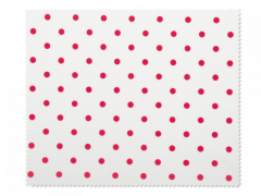Cleaning cloth for glasses - red polka dots