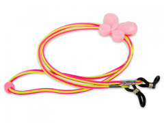 Cord for glasses in pink and yellow – butterfly