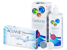 Acuvue Oasys (6 lenses) + Gelone Solution 360 ml